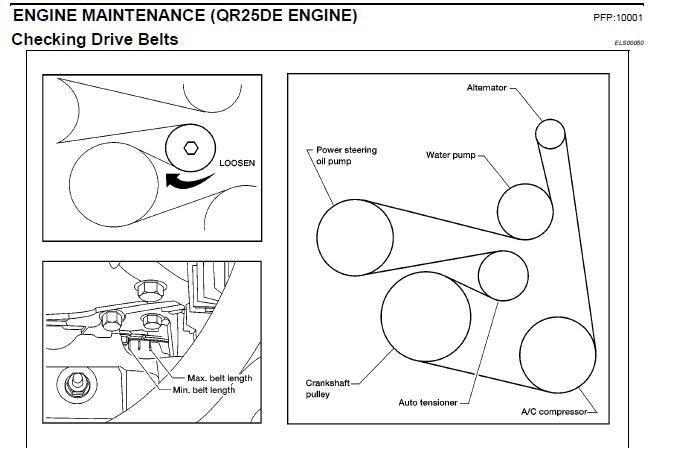2008 Nissan Altima Serpentine Belt Diagram - General ...
