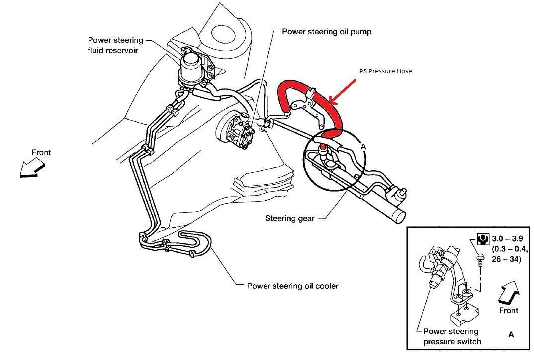 2004 nissan sentra power steering pump removal