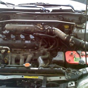 Greddy Headers, AEM cold air intake, Nismo Strut bar, 2.5L engine